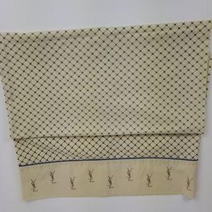 Vintage YSL King Size Pillowcase